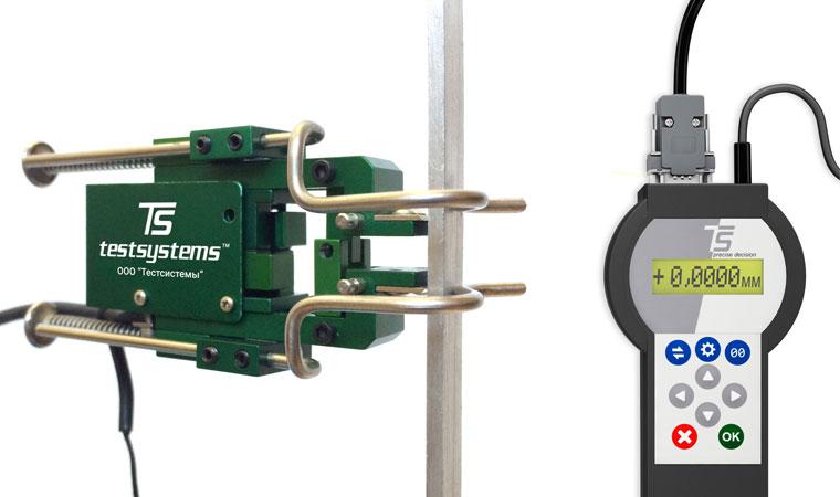 Внешний вид экстензометра ТС703-3542 с базовой длиной 10 мм