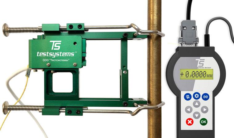 Внешний вид экстензометра ТС703-3542 с базовой длиной 50 мм
