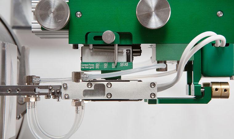 Регулировка усилия контакта с образцом на экстензометре ТС703-3549