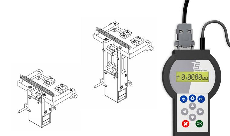 Внешний вид экстензометра ТС703-3575 для измерения поперечной деформации